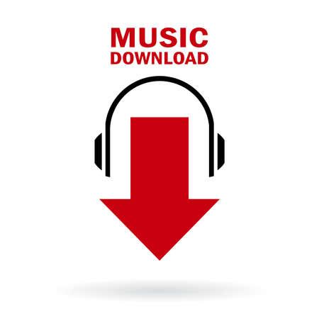 podcasting: Music download icon Illustration