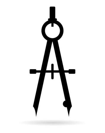 math icon: Bow drawing compass icon