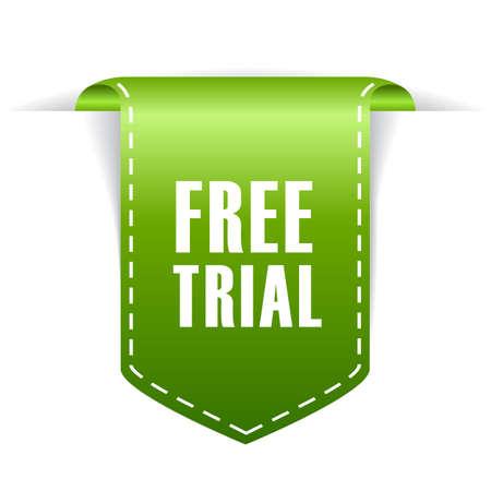 Free trial tag  イラスト・ベクター素材