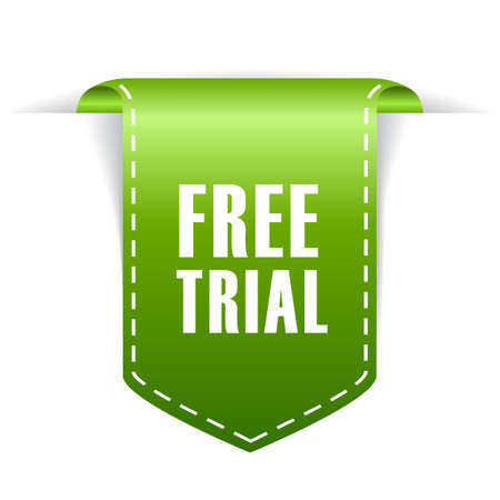 Free trial tag Stock Illustratie