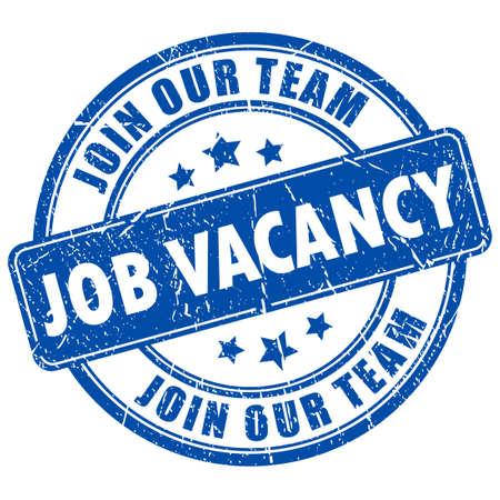 job vacancy: Job vacancy rubber stamp