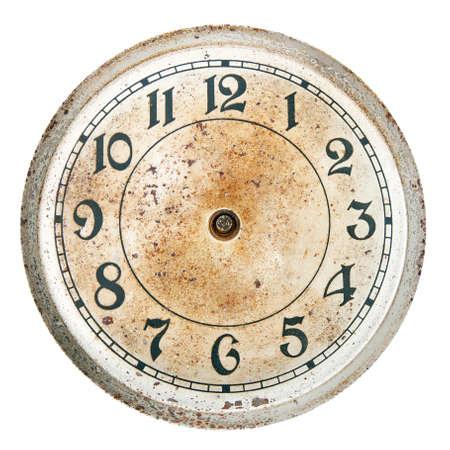 manos sucias: Dial de reloj en blanco, sin manos