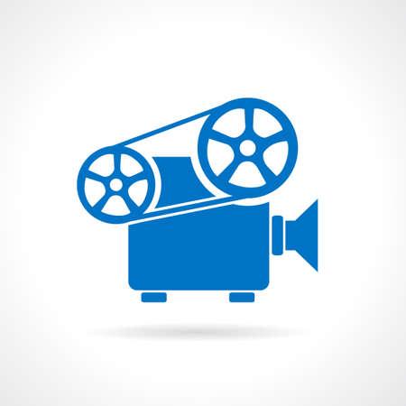 cinematografico: Retro cinema projector icon