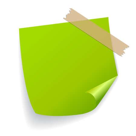 Green vector sticker