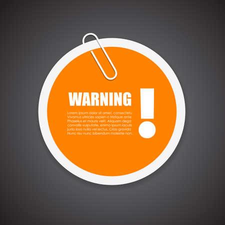 advertencia: Advertencia aviso de seguridad sticker