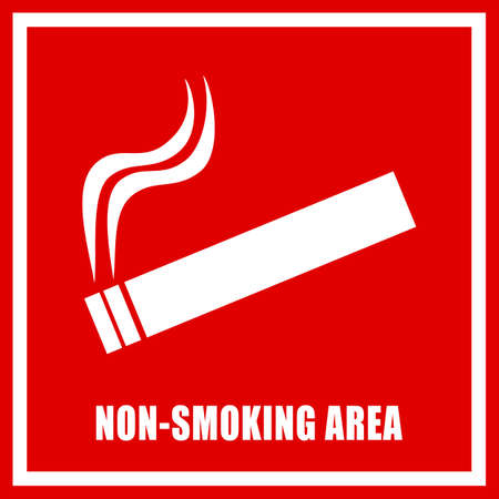 and the area: Non smoking area sign