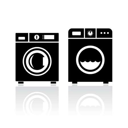 washer machine: Clothes washer icon Illustration
