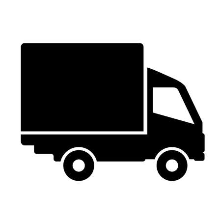 moving truck: Truck icon Illustration