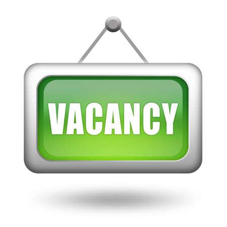 urgently: Vacancy sign