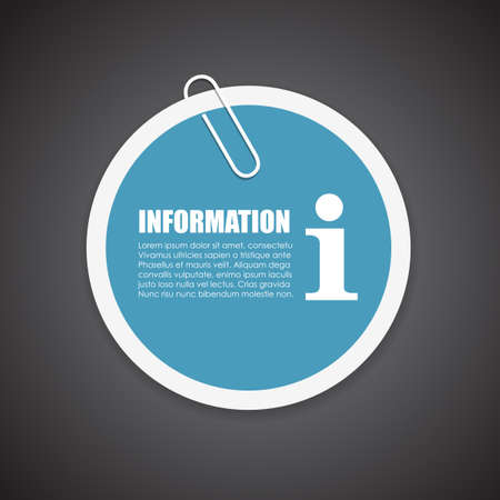 important: Information sticker Illustration