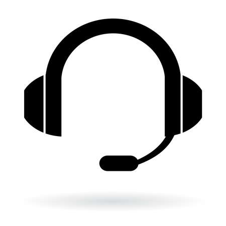 listening: Headphones with microphone, for customer service operator