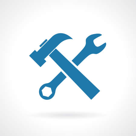 upkeep: Work tools sign Illustration