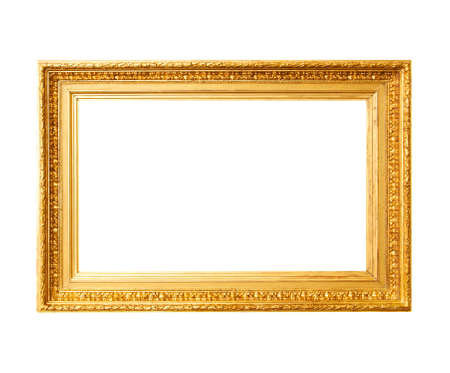 rococo: Ancient gold frame Stock Photo