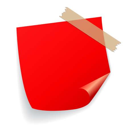Red vector sticker