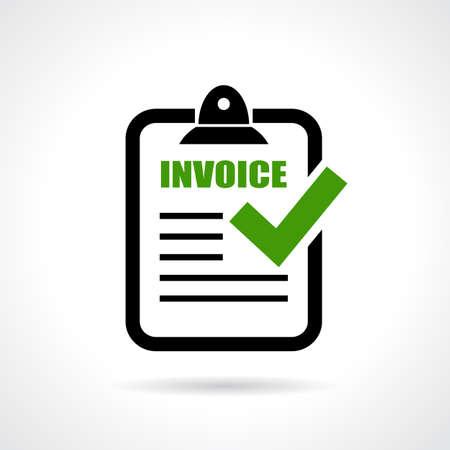 invoice: Invoice icon Illustration