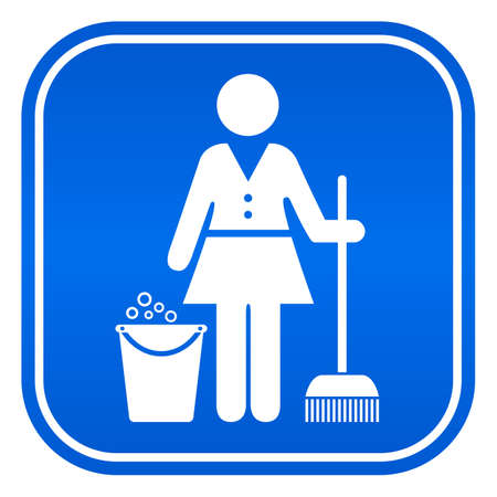 charwoman: Cleaning service icon