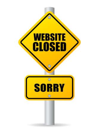 works: Website closed sign