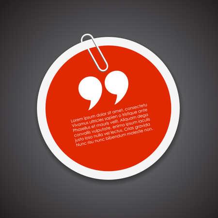 citation: Quote citation sticker Illustration