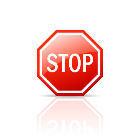 entrance is forbidden: Stop sign Illustration