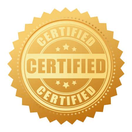 sellos: Sello de oro certificada