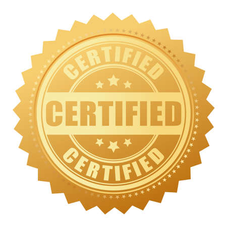 Certified gold seal