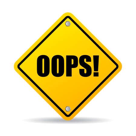oups: Oops signe losange Illustration