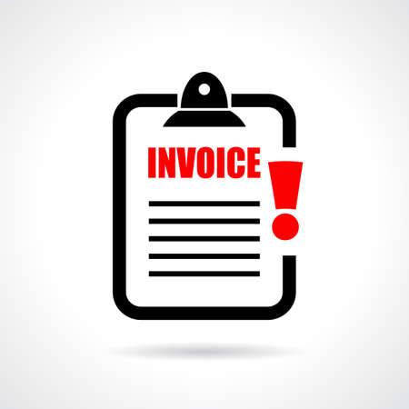 Unpaid invoice reminder icon