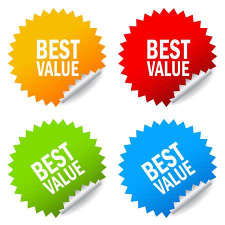 valor: Mejor precio pegatinas Vectores