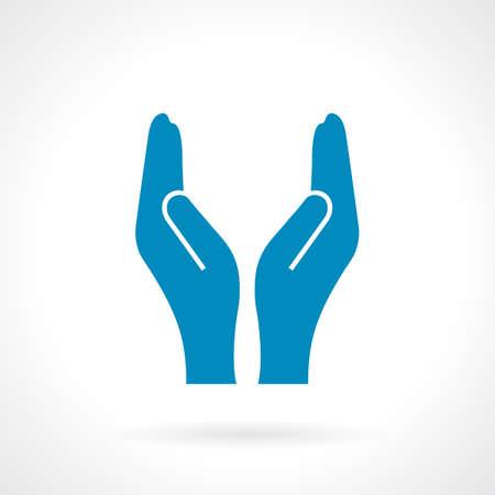 Hohle Pflege Hände Standard-Bild - 46535044
