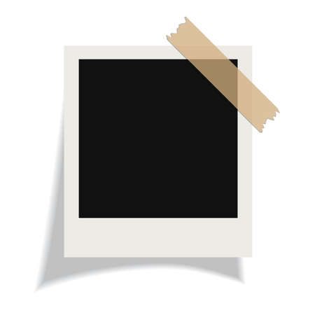 instant photo: Vector blank instant photo card