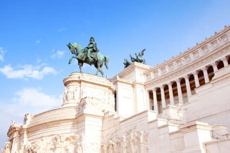 hill of the king: Rome, Italy - September 21, 2015: National Monument to Victor Emmanuel