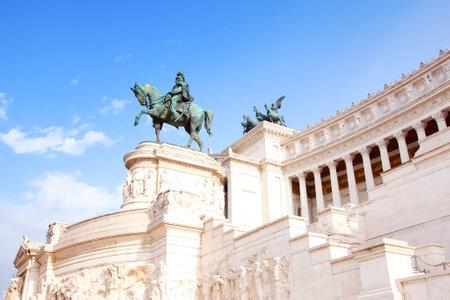 emmanuel: Rome, Italy - September 21, 2015: National Monument to Victor Emmanuel