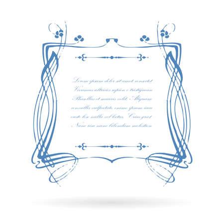 cite: Vintage victorian text frame