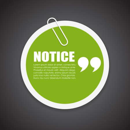 notice: Notice note paper Illustration