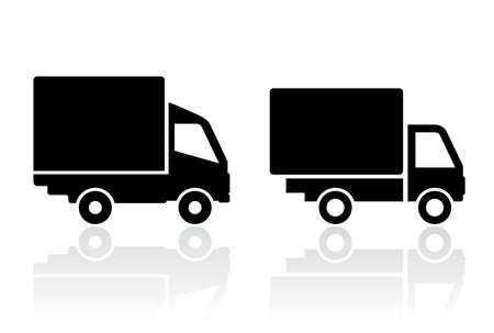 semi trailer: Delivery truck icon
