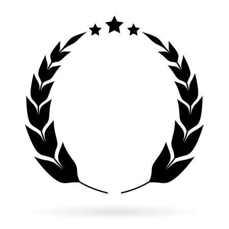 awarding: Laurel winner emblem Illustration