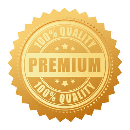 Premium quality gold label Illustration
