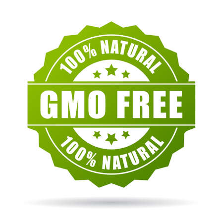 GGO-vrije natuurlijk product icoon Stock Illustratie