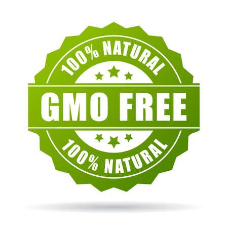 GMO ikona přírodní produkt Ilustrace