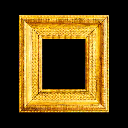 large gold picture frames gold frame isolted on black