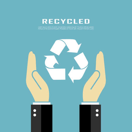 environmentally friendly: Recycled poster