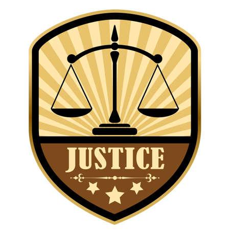 themis: Justice retro label