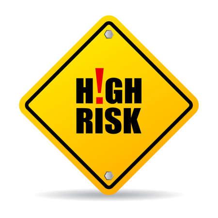 Teken met een hoog risico Stockfoto - 47588978