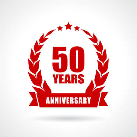 50th: 50 years anniversary icon Illustration