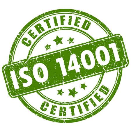 estampilla: Sello de la certificaci�n ISO 14001