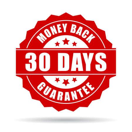 30 days money back guarantee icon Vectores
