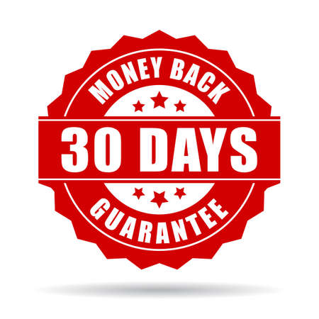 the 30: 30 days money back guarantee icon Illustration
