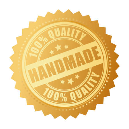 made: Handmade quality product icon Illustration