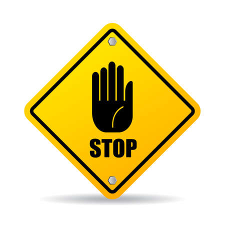 not permitted: Stop hand sign