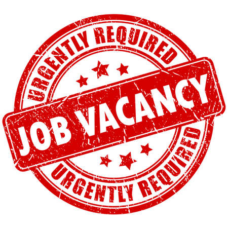 required: Job vacancy stamp, urgently required specialist